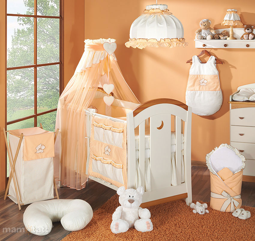 baby moskitonetz mit stickerei a f r kinderbett 70x140 ebay. Black Bedroom Furniture Sets. Home Design Ideas