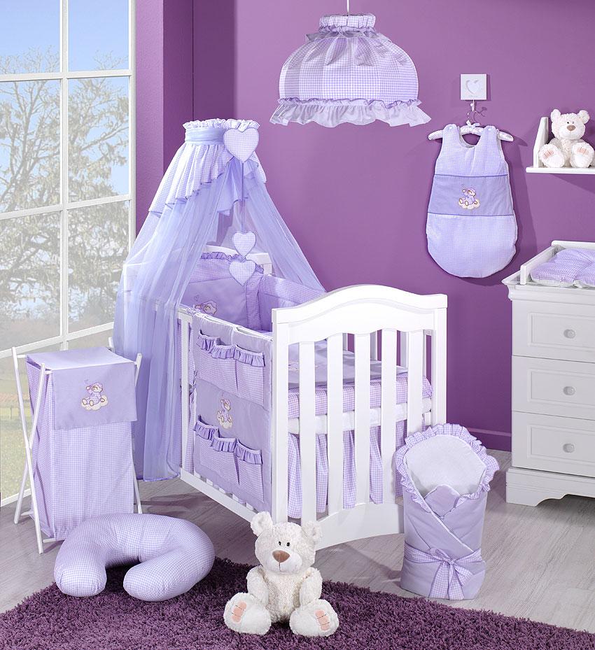baby moskitonetz mit stickerei a f r kinderbett 70x140 g rlitz. Black Bedroom Furniture Sets. Home Design Ideas