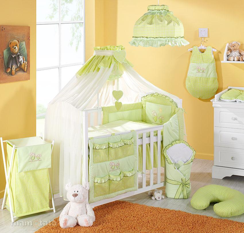 parure de lit b b 16 pieces nid d ange fl che de lit ebay. Black Bedroom Furniture Sets. Home Design Ideas