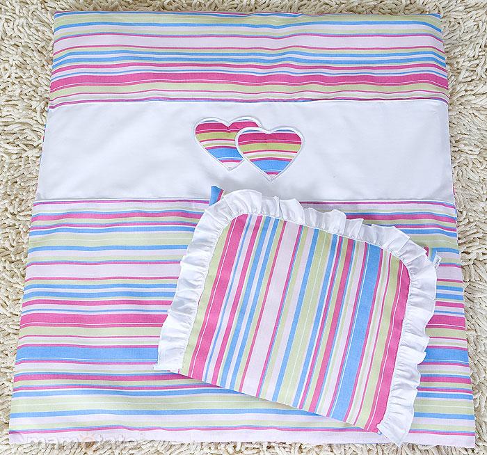 baby bettw sche kinderwagen deckenset mit applikation herz c 2tlg ebay. Black Bedroom Furniture Sets. Home Design Ideas