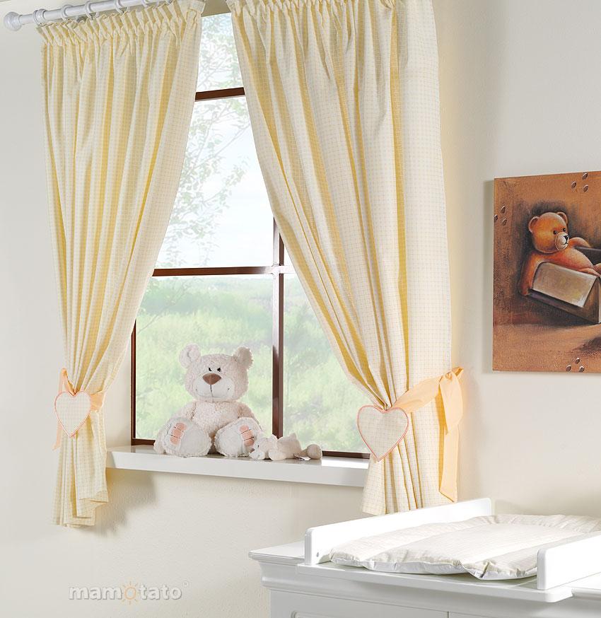 baby gardinen f r kinderzimmer mit stickerei a c 155x155cm ebay. Black Bedroom Furniture Sets. Home Design Ideas